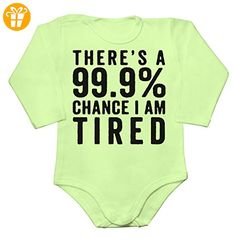There's A 99,9% Chance I'm Tired Baby Long Sleeve Romper Bodysuit Extra Large - Baby bodys baby einteiler baby stampler (*Partner-Link)