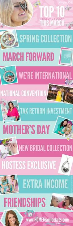 Top 10 Reasons to Join #OrigamiOwl this #March! Follow MAGGIE STEPHENS on FB https://www.facebook.com/origamiowl.home #DirectSales #SAHM