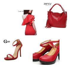 """The Lady in Red Style"" by yourhighheels4 ❤ liked on Polyvore"