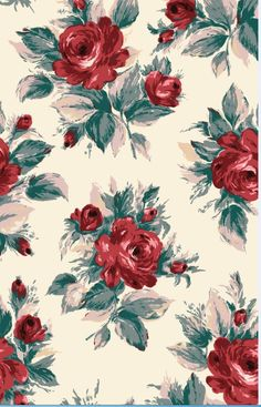 Devonshire Rose - We've created an impactful, modern reworking of the classic Christmas colour combination of red, white and green for our centrepiece festive floral pattern.