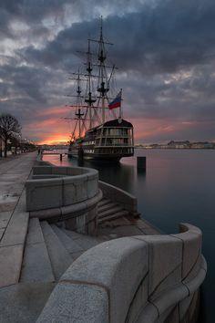 The frigate 'Blagodat' (grace) in St Petersburg, #Russia.
