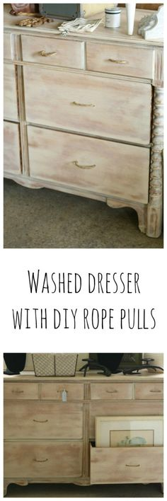Washed Dresser with Rope Pulls