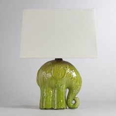 One of my favorite discoveries at WorldMarket.com: Elephant Ceramic Table Lamp