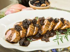 Delicious Pan Roasted Pork Tenderloin with a Fig & Balsamic Agrodolce made by Vanessa Seder! Don't miss Home & Family weekdays at 10a/9c on Hallmark Channel