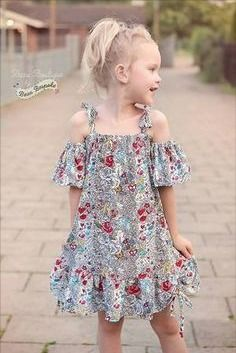 Little Girl Dress Patterns, Summer Dress Patterns, Dress Sewing Patterns, Pattern Dress, Baby Dress, The Dress, Off Shoulder Fashion, Summer Girls, Girls Summer Dresses