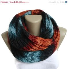 ON SALE colorful infinity scarves ,mens scarf ,women infinity scarf ,neckwarmer ,knit scarf ,knitting circle scarf on Etsy, $21.00