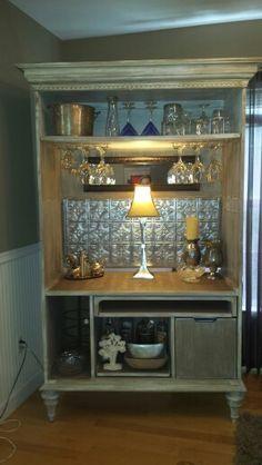 Barmoire repurposed armoire