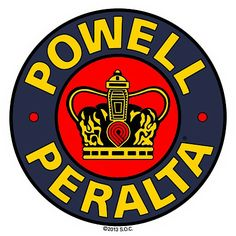 "Powell Peralta Supreme 3.5"" Sticker.  Click on pic to purchase."