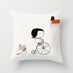 Hectora 2 Throw Pillow by yael frankel - $20.00