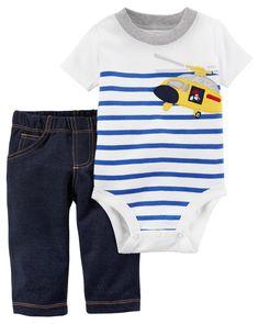 2-Piece Bodysuit Pant Set. Baby Boy ...