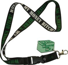 Breaking Bad Respect The Chemistry Detachable Keychain Lanyard And Rubber Charm
