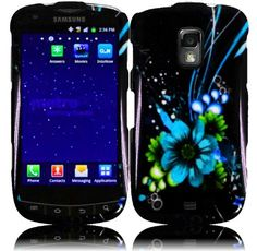 Buy For Samsung Galaxy S Lightray 4G R940 Hard Design Cover Case Blue Flower NEW for 3.99 USD | Reusell