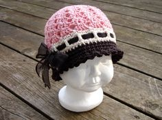 Crochet Pattern for Katrina Cloche Hat - 5 sizes, baby to adult $4.95