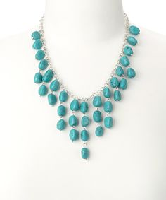 Another great find on #zulily! Turquoise Agate Necklace by ZAD #zulilyfinds