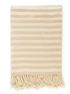 nest in bamboo viscose stripe throw blanket in cream/soft white $140