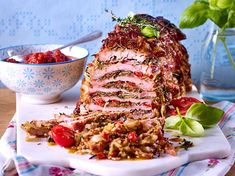 Schnitzel-layer roast recipe DELICIOUS - Our popular recipe for layered schnitzel and more than other free recipes LECKER. Roast Recipes, Cooking Recipes, Heath Food, Zucchini Lasagne, Eastern European Recipes, Good Food, Yummy Food, How To Make Crepe, Party Food And Drinks