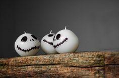 Jack Skellington Handmade Candle Nightmare Before Christmas Inspired Candle - Halloween Decor, Halloween Gift