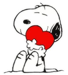 Snoopy's heart hug for you! • cartoonist: Charles M. Schulz on Peanuts Wiki