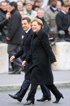 Sarkozy and Angela Merkel
