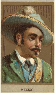 Mexico, from the Races of Mankind series (T181) issued by Abdul Cigarettes, 1881. The Metropolitan Museum of Art, New York. The Jefferson R. Burdick Collection, Gift of Jefferson R. Burdick (Burdick 246, T181.23)