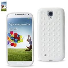 REIKO SAMSUNG GALAXY S4 HYBRID SUCTION DOT HOLES CASE IN WHITE