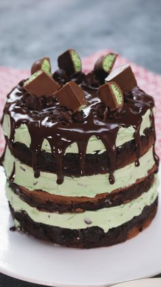 Mint Choc Chip Pan Cake Did you know you can bake a whole cake on your stove? This Mint Choc Chip Pan-Cake is the ultimate indulgent stack of dessert goodness! Menta Chocolate, Homemade Chocolate, Chocolate Recipes, Chocolate Cake, Mini Cakes, Cupcake Cakes, Cupcakes, Cake Recipes, Dessert Recipes