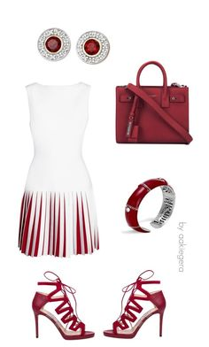 """In red"" by aakiegera on Polyvore featuring мода, Alaïa, Jimmy Choo, Yves Saint Laurent и John Hardy"