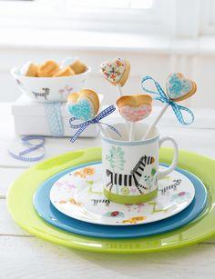 Children's Safari Maxwell Williams, Cake Pops, Breakfast, Tableware, Safari, Food, Morning Coffee, Dinnerware, Tablewares