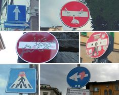 The quirky street signs are some of the interesting views of the city.