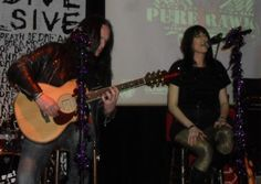 Milena and Andy from Shush opening acoustic at the 2012 PRA's