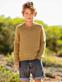 V Neck Sweater from Bergere de France SS 2014 0-12 Years Collection - 173