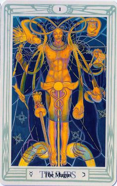 Crowley's other Magus tarot cards painted by Frieda Harris