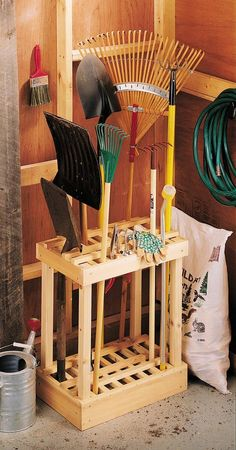 3 Blessed Cool Tips: Garden Tool Organization Crafts garden tool storage cabinet.Garden Tool Organizer Yards garden tool storage step by step. Garden Tool Organization, Garden Tool Storage, Garage Organization, Organization Ideas, Yard Tool Storage Ideas, Workshop Organization, Diy Garage Storage, Cheap Storage, Storage Cart