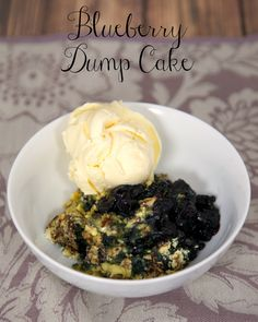 Blueberry Dump Cake - only 5 ingredients!
