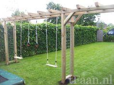 Puinen pihakeinu wooden swing lapsille for kids pinterest pihaleikit lastenrattaat ja - Tent tuin pergola ...