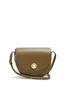 MANSUR GAVRIEL MINI SADDLE LEATHER CROSS-BODY BAG. #mansurgavriel #bags #shoulder bags #leather #
