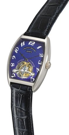 Franck Muller  A FINE WHITE GOLD TONNEAU-FORM TOURBILLON WRISTWATCH  REF 2852 T NO 29 IMPERIAL TOURBILLON CIRCA 1998