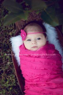 Newborn Ruffle Wrap and Headband by InspiredbyEmilyGrace on Etsy, $22.00