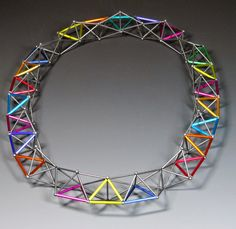 Tetrahedron Necklace by Emilie