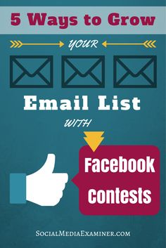 Facebook contests and sweepstakes are an excellent method for capturing email leads. Here are five ways to grow your email list with Facebook contests.