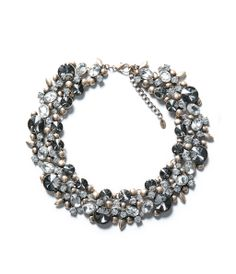 Image 1 of NECKLACE WITH FLOWERS AND STRASS from Zara