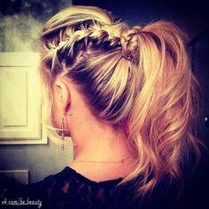 Braids and ponytail!!