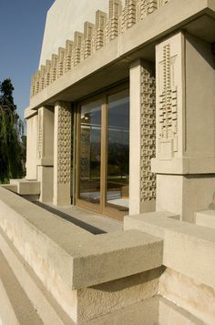 The Hollyhock House by Frank Lloyd Wright. Open to visitors.