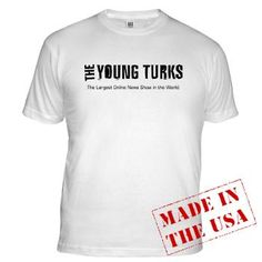 Show your love for the largest online news show in the world, The Young Turks by sporting this incredibly comfortable t-shirt.
