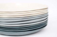 organic entree plate - porcelain (milk colour).