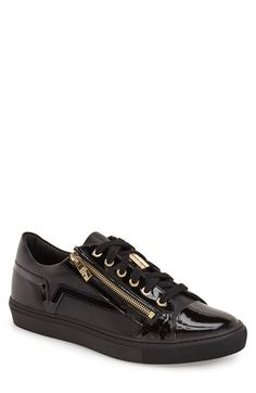 Versace Collection Side Zip Low Top Sneaker (Men) available at #Nordstrom