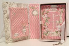 Botanical Tea shadow book box with a recipe album inside by Anne Rostad