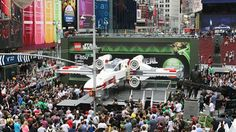 Full-scale X-Wing replica touches down as worlds largest Lego model