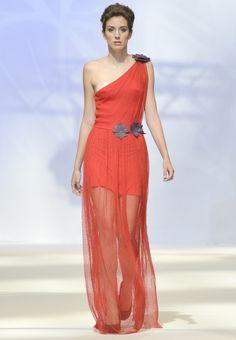 Desfile colección EUMENIDES SS 2014 Summer Collection, One Shoulder, Spring Summer, Formal Dresses, Fashion, Dresses For Formal, Moda, Fashion Styles, Fasion