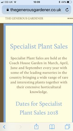Coach House, Plant Sale, Bring It On, Home And Garden